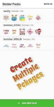 Texticker, Create Text Stickers - WAStickerApps pc screenshot 2