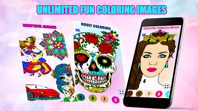 Adult Color By Number-Paint By Number Book Free pc screenshot 1