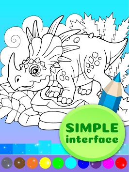 Cute Animated Dinosaur Coloring Pages pc screenshot 2
