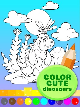 Cute Animated Dinosaur Coloring Pages pc screenshot 1