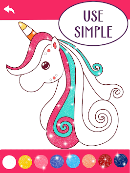Animated Glitter Coloring Book - Unicorn pc screenshot 1