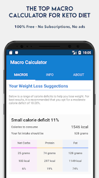 Keto Calculator - Low-Carb Macro Calculator pc screenshot 1