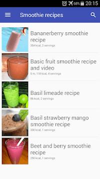 Smoothie recipes offline app for free with photo pc screenshot 1