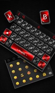 Black Red Keyboard Theme pc screenshot 2