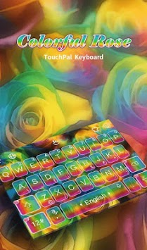 Colorful Rose Keyboard Theme pc screenshot 1