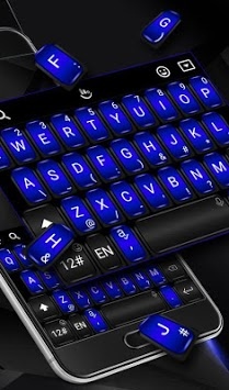 Cool Black Blue Keyboard Theme pc screenshot 2