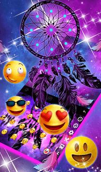 Purple Galaxy Dream Catcher Keyboard Theme pc screenshot 1