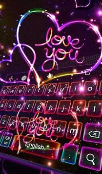 Love Sparkling Heart Keyboard Theme pc screenshot 1