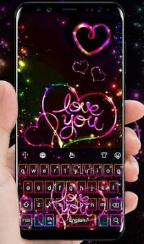 Love Sparkling Heart Keyboard Theme pc screenshot 2