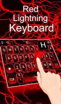 Red Lightning Keyboard Theme pc screenshot 1