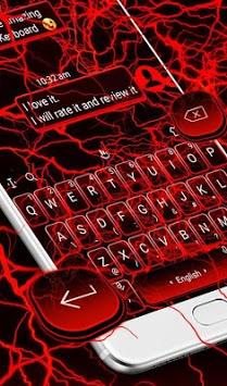 Red Lightning Keyboard Theme pc screenshot 2