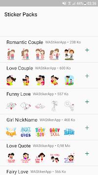 Love Sticker Packs For WhatsApp - WAStickerApps pc screenshot 1