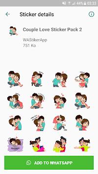 Love Sticker Packs For WhatsApp - WAStickerApps pc screenshot 2