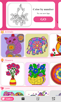 Color by number - color by number for adults pc screenshot 2
