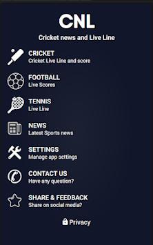 CNL - Cricket News & Live Line (Cricket Live Line) pc screenshot 1