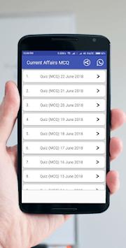 Current Affairs GK (MCQ) - 2018 Daily Update pc screenshot 1