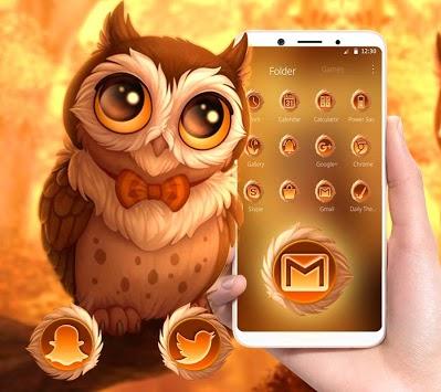Cute Autumn Owl Theme pc screenshot 1