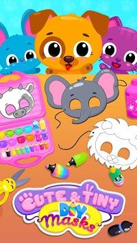 Cute & Tiny DIY Mask Party - Art & Coloring Fun pc screenshot 1