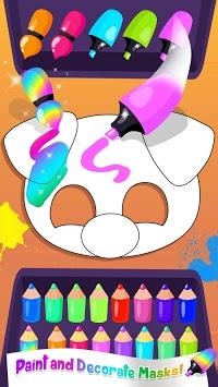 Cute & Tiny DIY Mask Party - Art & Coloring Fun pc screenshot 2