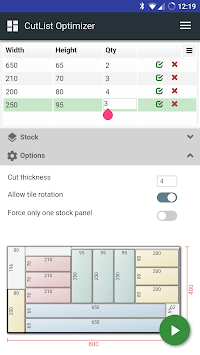 CutList Optimizer pc screenshot 1