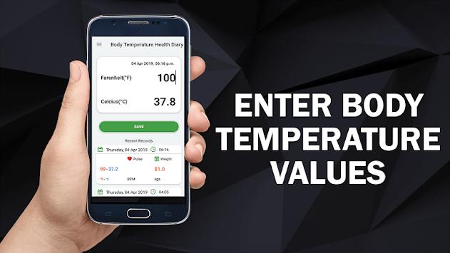 Body Temperature Diary : Fever Check Scan Tracker pc screenshot 1