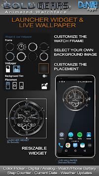 Bold Gears HD Watch Face Widget & Live Wallpaper pc screenshot 2