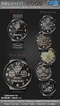 Brushed Wood HD Watch Face Widget & Live Wallpaper pc screenshot 1