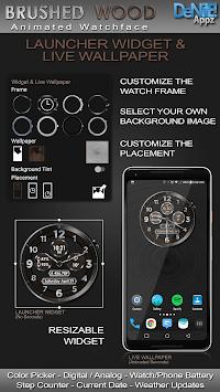 Brushed Wood HD Watch Face Widget & Live Wallpaper pc screenshot 2
