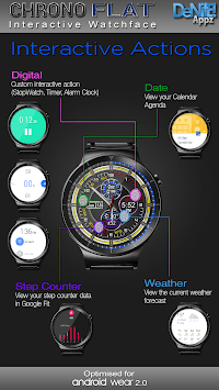 Chrono Flat HD Watch Face Widget & Live Wallpaper pc screenshot 1