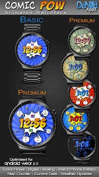 Comic Pow HD Watch Face Widget & Live Wallpaper pc screenshot 1