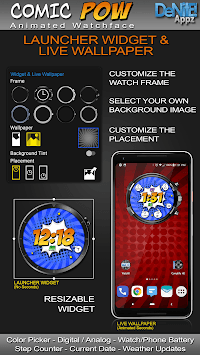 Comic Pow HD Watch Face Widget & Live Wallpaper pc screenshot 2
