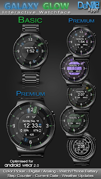 Galaxy Glow HD Watch Face Widget & Live Wallpaper pc screenshot 1