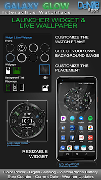 Galaxy Glow HD Watch Face Widget & Live Wallpaper pc screenshot 2