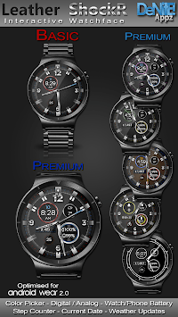 Leather ShockR HD Watch Face Widget Live Wallpaper pc screenshot 1