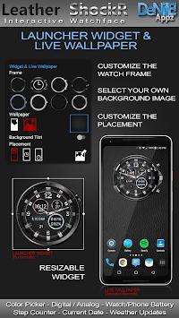 Leather ShockR HD Watch Face Widget Live Wallpaper pc screenshot 2