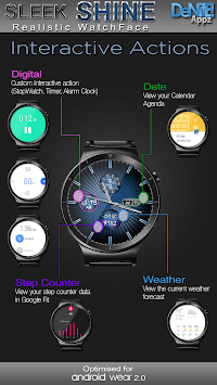 Sleek Shine HD Watch Face Widget & Live Wallpaper pc screenshot 1