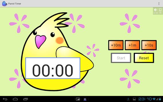 Cute timer app : Parrot Timer pc screenshot 1