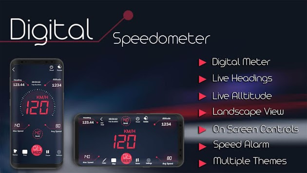 Digital Speedometer - GPS Odometer app offline HUD pc screenshot 1