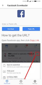 Video Downloader for Facebook pc screenshot 1