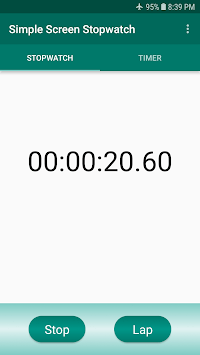 Simple Screen Stopwatch pc screenshot 1