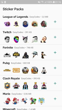 WAStickerApps - Games stickers for Whatsapp pc screenshot 1