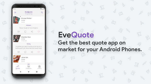 EveQuote - The Quotes App pc screenshot 1