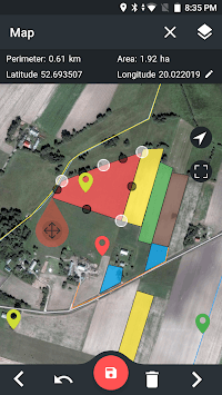 GPS Measurer - Area, Perimeter, Distance, POI pc screenshot 1