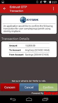 Entrust IdentityGuard Mobile pc screenshot 1