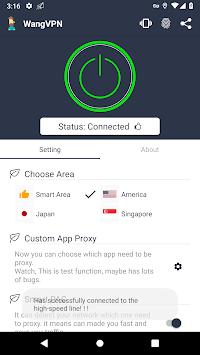 Wang VPN ❤️- Free Fast Stable Best VPN Just try it pc screenshot 1