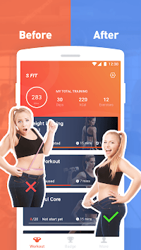 Sfit – Easy Workout, Bodybuild, Exercise at home pc screenshot 1