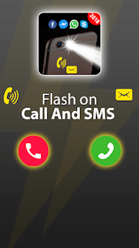 Flash on Call and SMS: Automatic Bright flashlight pc screenshot 1