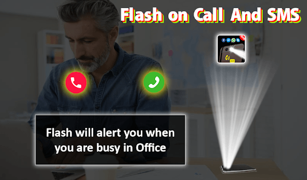 Flash on Call and SMS: Automatic Bright flashlight pc screenshot 2