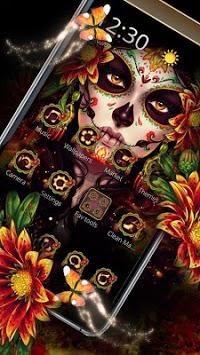 Black Floret Skull Theme pc screenshot 1