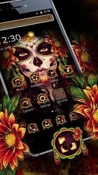Black Floret Skull Theme pc screenshot 2